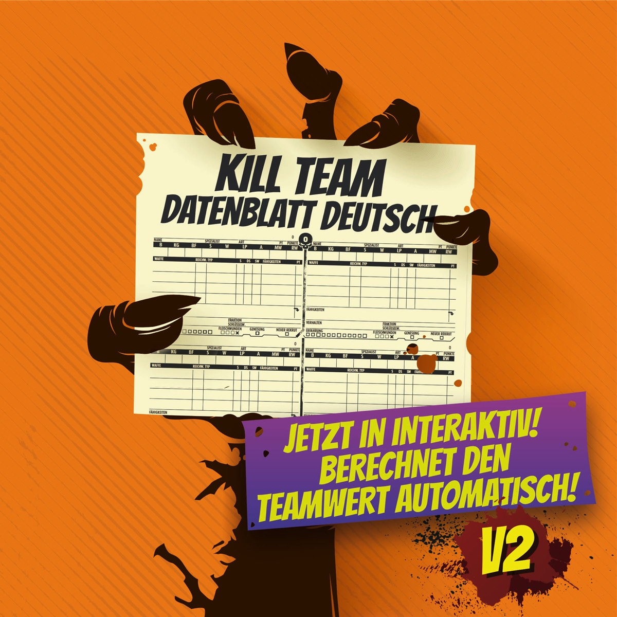 Interaktives Kill Team Datenblatt Deutsch